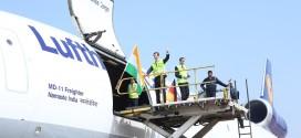 Lufthansa Cargo McDonnell Douglas MD-11 D-ALCJ 'Namaste India'. Lufthansa Image.