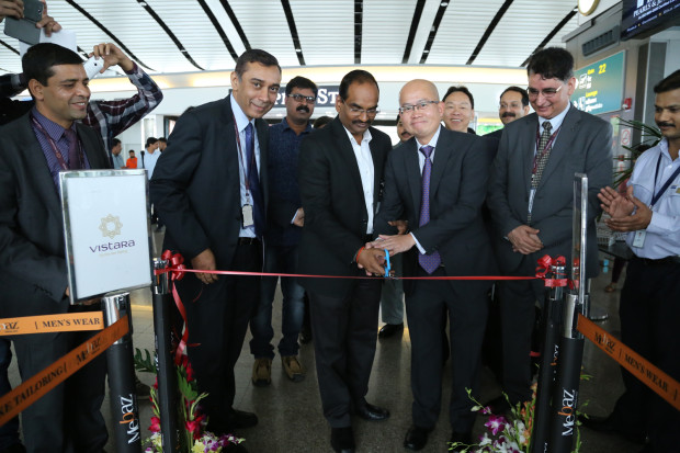 Vistara - Ribbon cutting at Hyderabad Airport-1