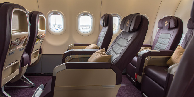 Vistara A320 Business class, seat recline profile.