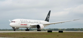Air India 787-8 Dreamliner in Star Alliance livery.