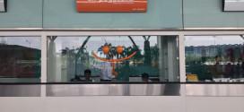 Air Pegasus counter at Kempegowda airport, Bangalore.