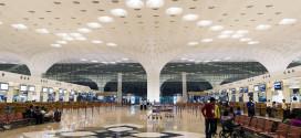The check-in hall at Mumbai CSI airport.