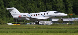 Pilatus PC-24 takes off for it's maiden flight. Pilatus Image.