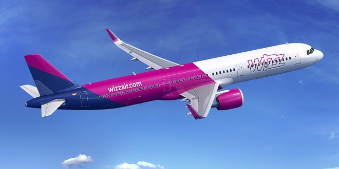 Rendering of Wizz Air A321neo. Airbus image.