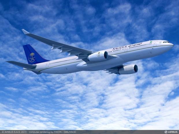 Saudi Arabian is launch customer for Airbus A330-300