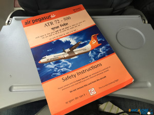 The Safety card of the ATR 72.