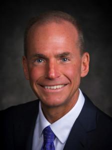 Dennis Muilenburg, Boeing, CEO, from July 1, 2015. Boeing image.