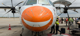 Air Pegasus ATR 72-500 VT-APA. I really like the smiley face on the nose of the aircraft.