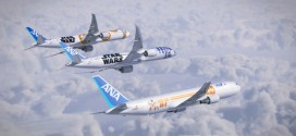 All three ANA Star Wars liveried jets. ANA Image.