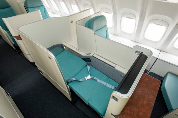 Korean Air Boeing 747-8i Business Class Seat. Boeing Image.