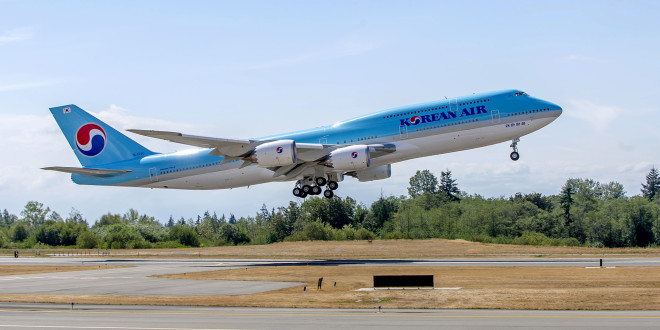 Korean Air Boeing 747-8i. Boeing Image.