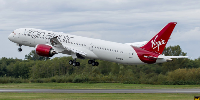 Virgin Atlantic Boeing 787-9 G-VNEW. Boeing Image.