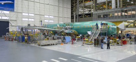 1st 737 Max on line. Boeing Image.