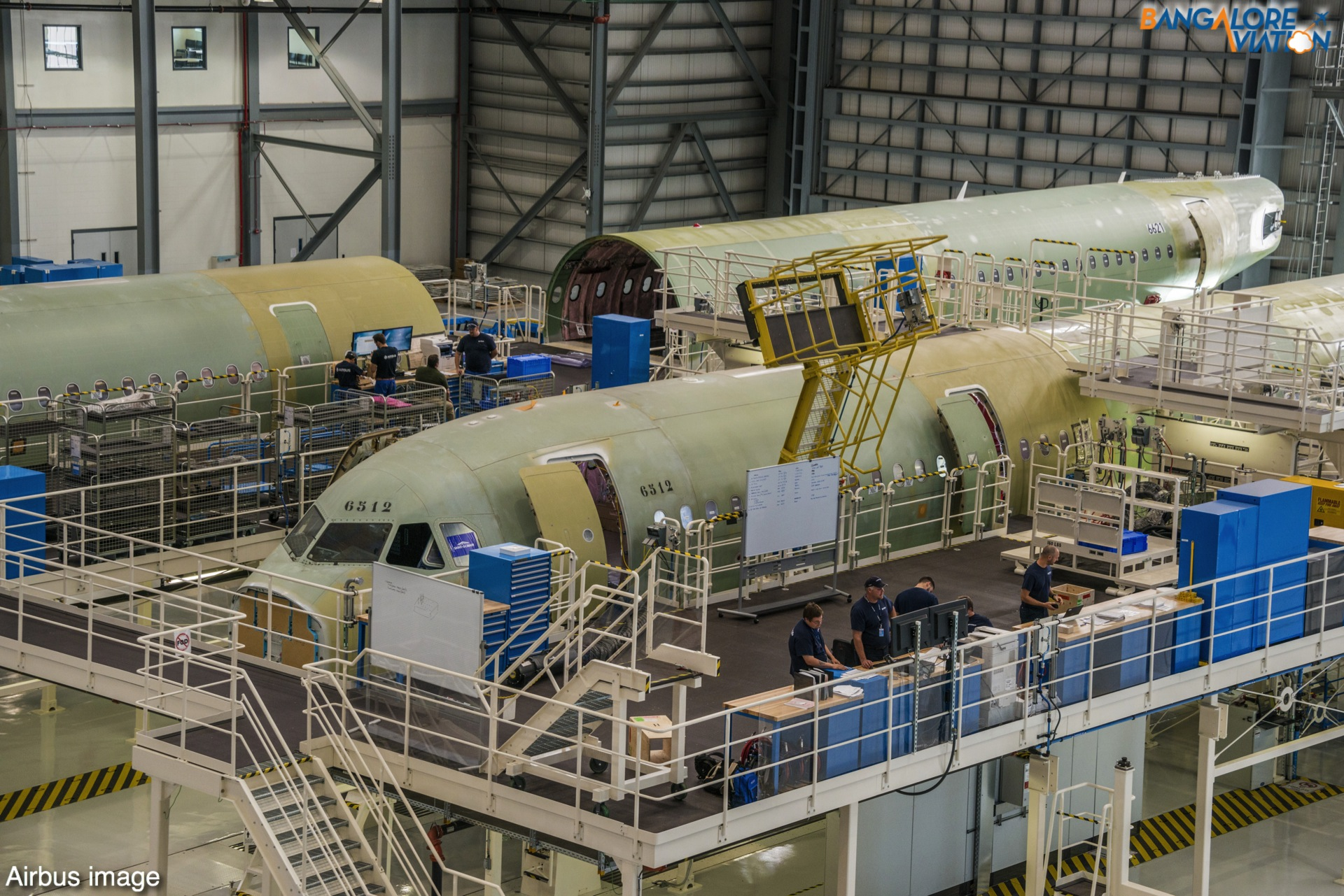 MSN6512 and MSN6621 in assembly at Airbus U.S. Manufacturing Facility. Airbus image.