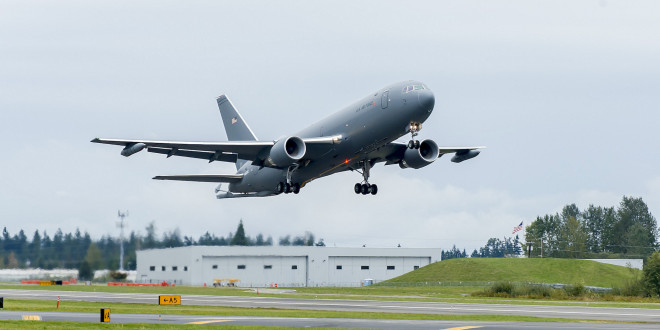 The KC-46A takes off on it's maiden flight. Boeing Image.