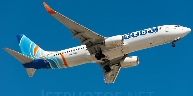 flydubai Boeing 737-800 A6-FEO. Photo copyright Vedant Agarwal.