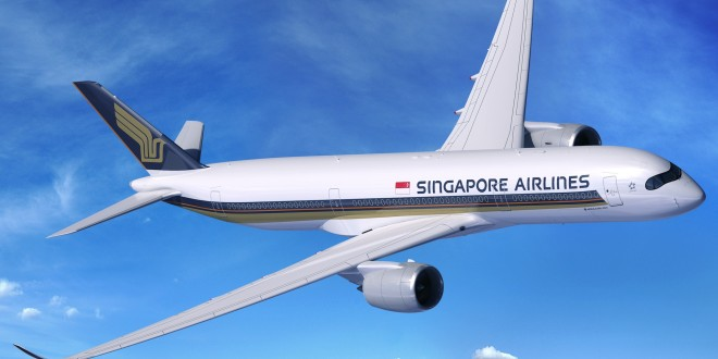 CGI of Singapore Airlines A350-900. Airbus image.