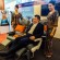 Singapore Airline's India country head David Lau demonstrates the new premium economy seat
