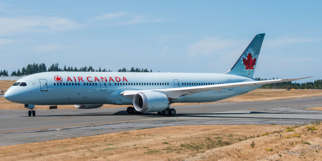 Air Canada Boeing 787-9. Airline Image.