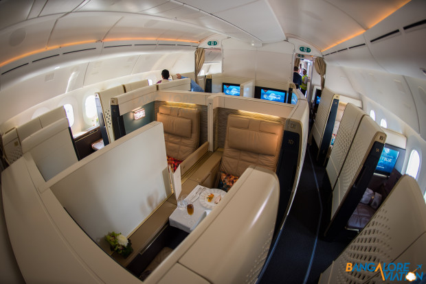 The first class cabin on Etihad 787-9.