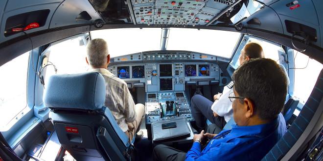 Indigo Airbus A320neo VT-ITC. Cockpit. Copyrighted image. Re-use prohibited.