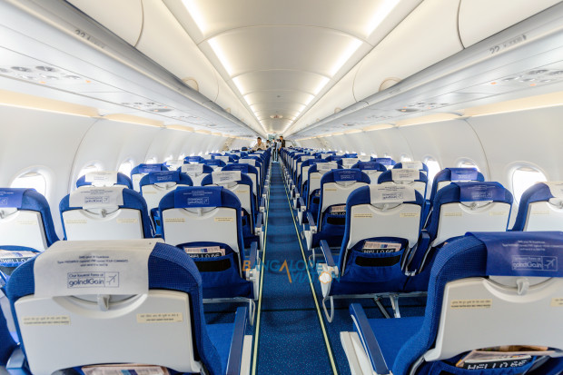 Indigo Airbus A320neo VT-ITC. Cabin. Copyrighted image. Re-use prohibited.