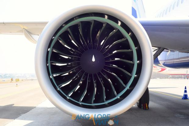 Indigo Airbus A320neo VT-ITC. Pratt & Whitney PurePower PW1127 Geared Turbo Fan engine. Copyrighted image. Re-use prohibited.