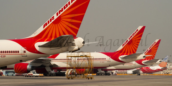 The Air India ramp at Mumbai CSMI Airport. Photo by and copyright Devesh Agarwal.