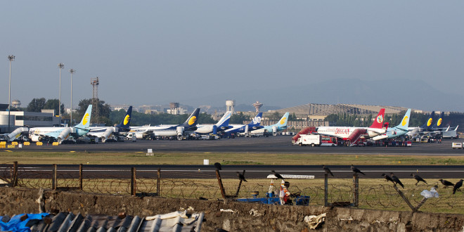 Domestic ramp at Mumbai Chhatrapati Shivaji airport. Photo copyright Devesh Agarwal.