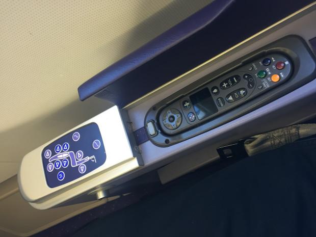 The IFE control. Thai Airways. Airbus A330-300.