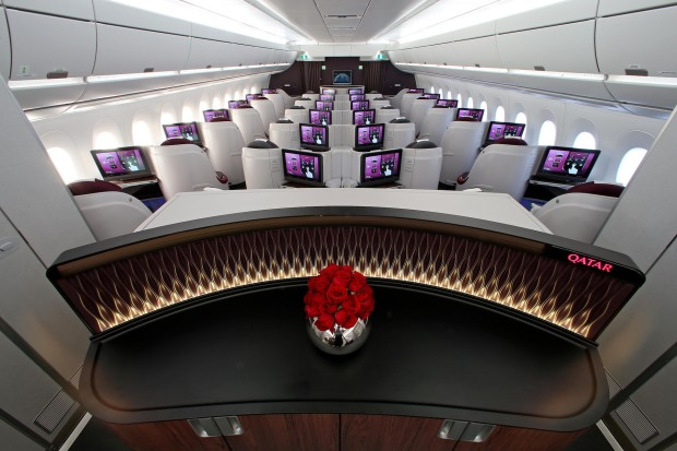 Qatar Airways Airbus A350-900 business class.