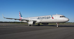 The first American Airlines A321 to be delivered from the Mobile, Alabama plant. Airbus Image.