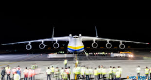 Antonov An-225 UR-82060 at Hyderabad Airport.