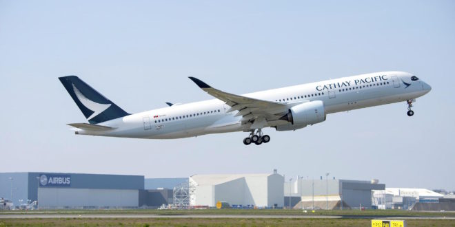 Cathay Pacific becomes the sixth operator of the Airbus A350-900. Airbus photo.