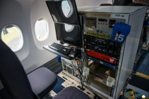 Flight test equipment at the back of the new MAX 8.