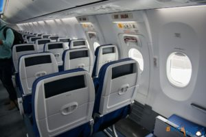 Exit row seats on the MAX 8.