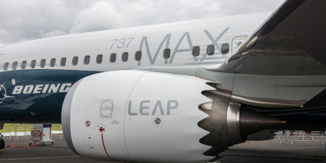 The CFM Leap 1B on the MAX 8.