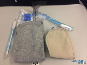 Contents of the amenity kit.
