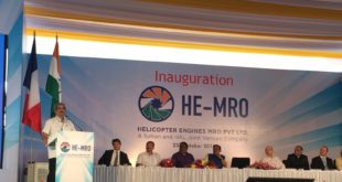 Indian Defense Minister Mohan Parrikar inaugurates the HE MRO.