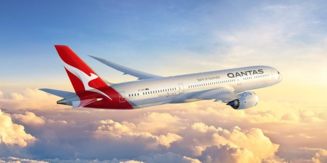 CGI of the Boeing 787-9 Dreamliner in the new Qantas livery.