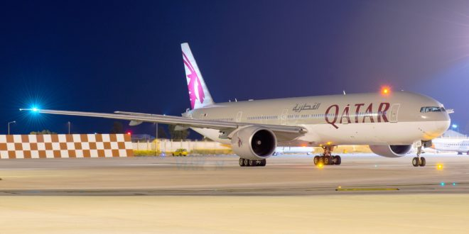 Qatar Airways A7-BAC Boeing 777-300ER.