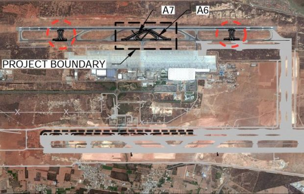 Proposed rapid exit taxiways A6 and A7 to be constructed in early 2017 at Bangalore Kempegowda airport (VOBL)