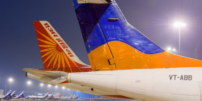 Tails of Air India and it's old subsidiary Alliance Air.