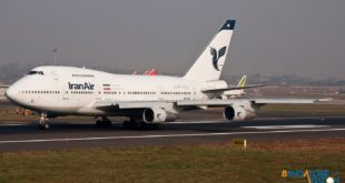 Iran Air Boeing 747SP EP-IAB. Taxing down the runway at Mumbai Airport. Photo copyright Vedant Agarwal.