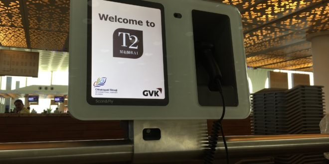 One of he SITA Scan and Fly units deployed at Mumbai airport's Terminal 2.