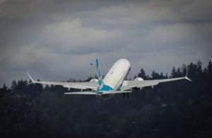 The MAX 9 taking off from Renton.
