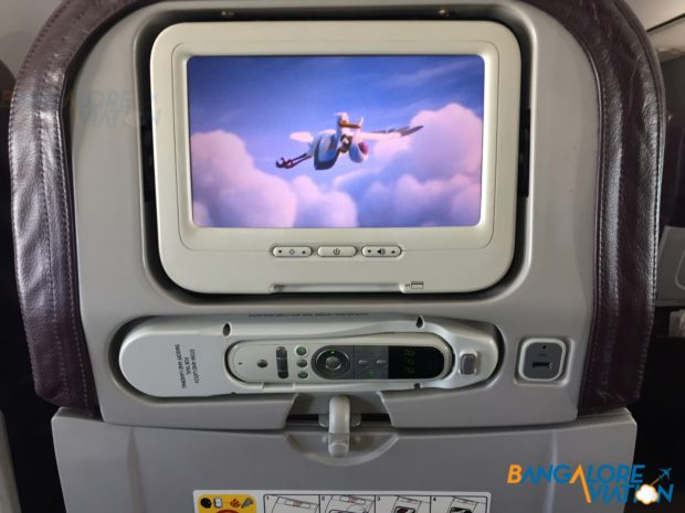 IFE system with it's remote.