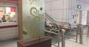 Entrance to the Malaysia Airlines Golden Lounge Regional.