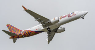 First Boeing 737 MAX 8 delivered to Malindo Air. Boeing image.