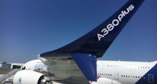 New split winglets proposed on the A380plus. Airbus image.